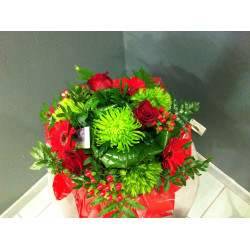 bouquet rond rouge