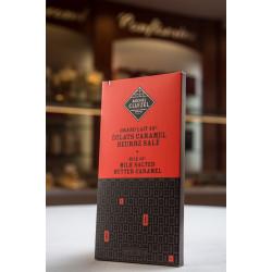 TABLETTE CHOCOLAT AU LAIT CARAMEL BEURRE SALE 45%