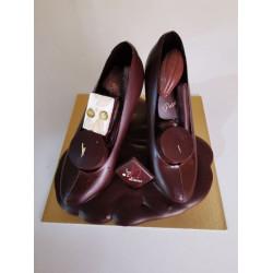 Paire de Chaussures en chocolat