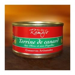 Terrine de canard olive et péquillos