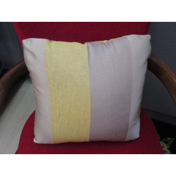 Coussin CARRE rayures jaunes