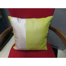 Coussin CARRE rayures anis