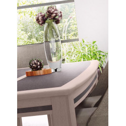 Table séjour chêne et céramique