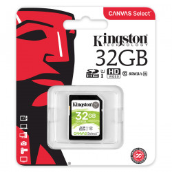 Carte mémoire SDHC Kingston 32 Go