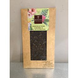 Tablette Chocolat Noir Caramel et sel de Guérande
