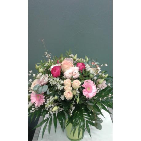 Bouquet rond romantique rose