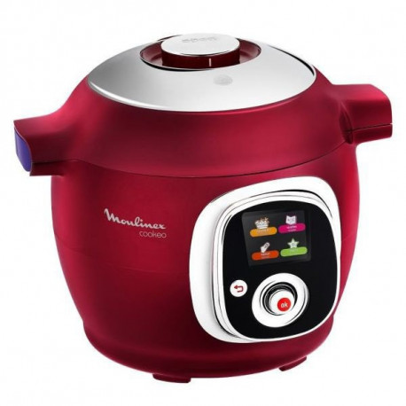 Multicuiseur intelligent Cookeo 100 recettes rouge
