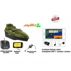 Bateau Amorceur Anatec Monocoque S Oak Lithium Brushless Echo + GPS