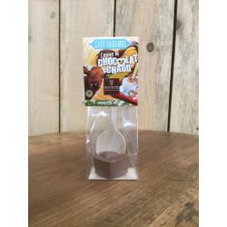 Coeur de chocolat au lait-caramel pour boisson chocolatée